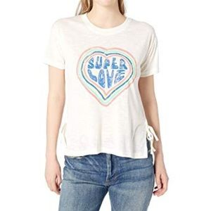 NWT Jessica Simpson Side Tie Graphic Tee